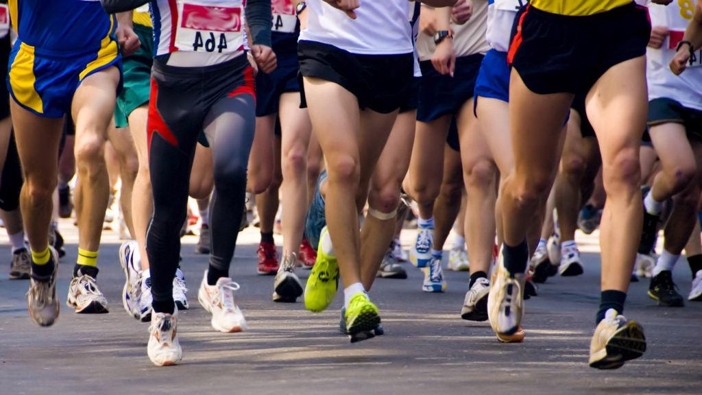 Maratón de Barcelona. Promoción de masaje de descarga.