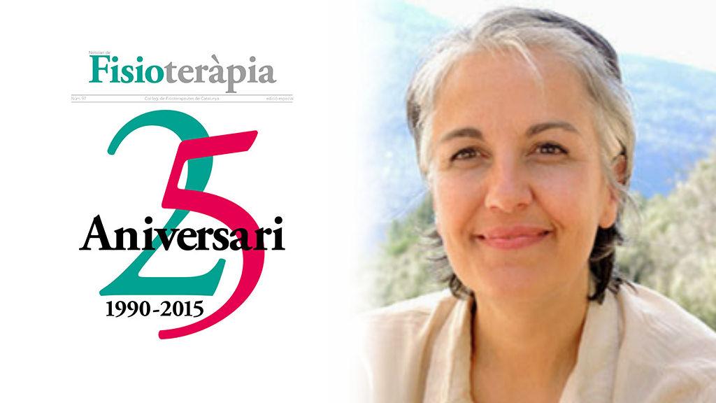 Clara Nebot entrevistada pel Col·legi de Fisioterapeutes de Catalunya
