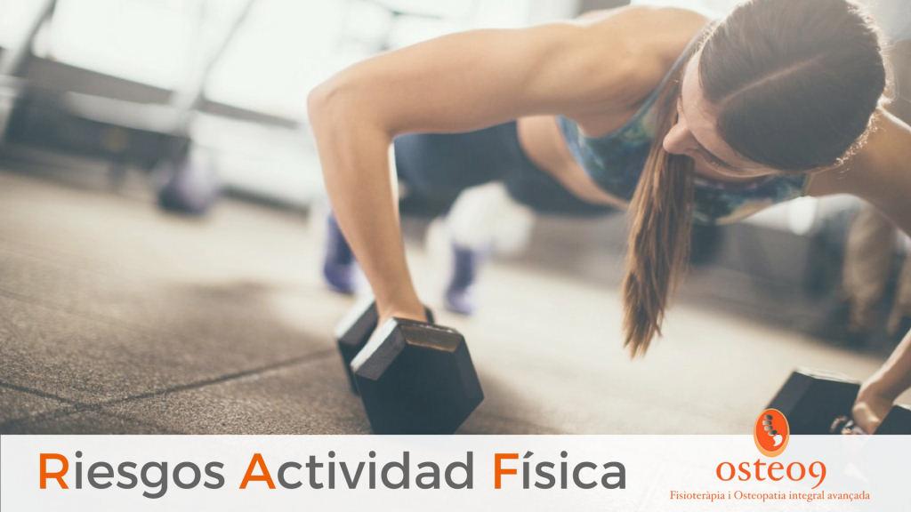 Cuando la actividad física pone la salud en riesgo
