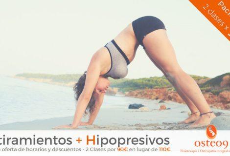 Promoción Pack Osteo9: Estiramientos + Hipopresivos